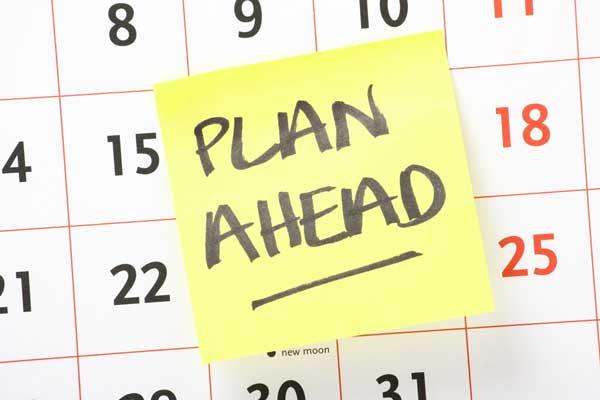 Lập kế hoạch trước