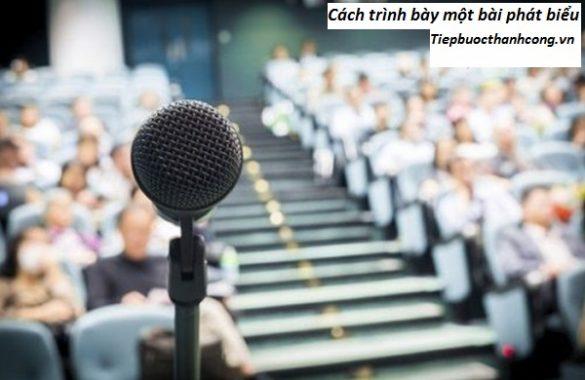 Cách trình bày một bài phát biểu